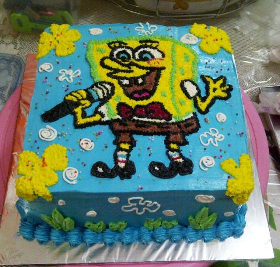 Kue Ulang Tahun Spongebob Squarepants Fina Cake S Pontianak