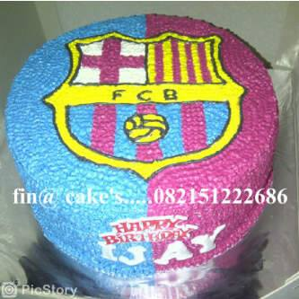 Kue Ultah Logo Barcelona Fina Cakes Pontianak