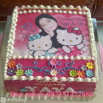 Kue Ultah Edible Hello Kitty Fina Cakes Pontianak