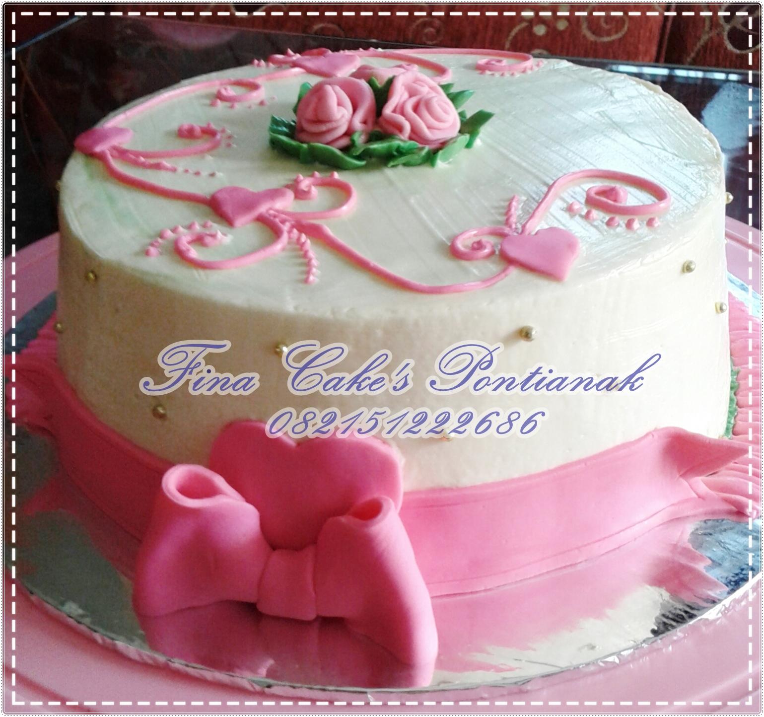 Kue Ultah Minimalis Fina Cakes Pontianak