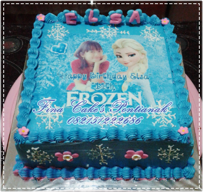 Kue Ultah Frozen Elsa Fina Cakes Pontianak